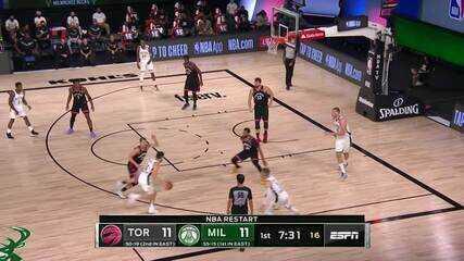 Melhores momentos de Toronto Raptors 114 x 106 Milwaukee Bucks pela NBA
