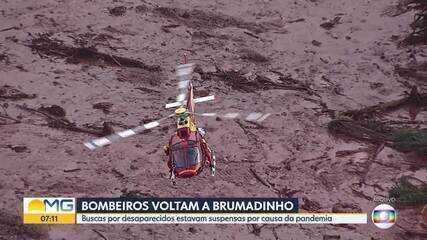 Bombeiros vão retomar buscas em Brumadinho