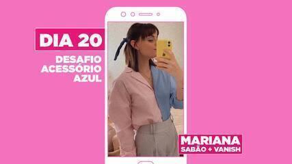 Acessório novo na área: Mariana dá dicas para usar lenço colorido