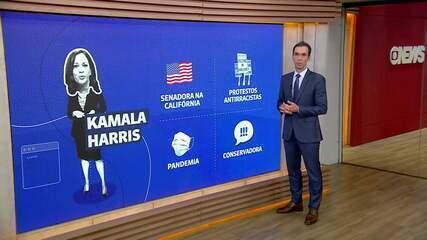 Kamala Harris se destacou por participar dos protestos antirracistas nos EUA