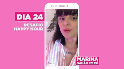Marina Peixoto da dica para curtir happy hour com os amigos