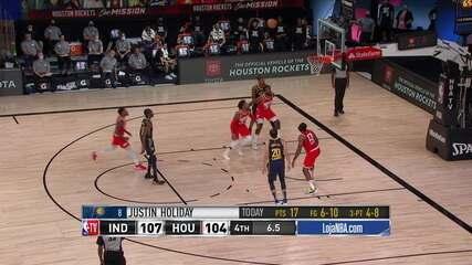 Melhores momentos: Houston Rockets 104 x 108 Indiana Pacers, pela NBA