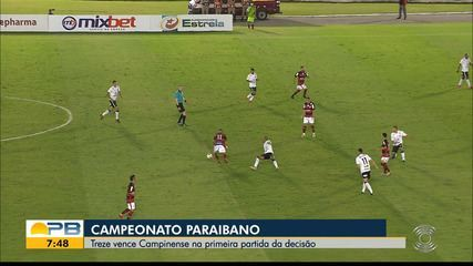 Campinense 0 x 2 Treze, no jogo de ida da final do Campeonato Paraibano
