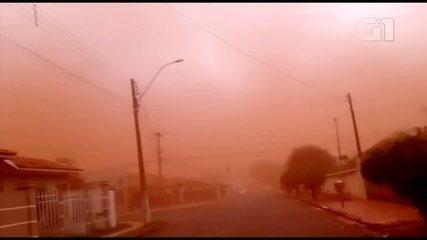 Tempestade de areia atinge cidades do interior de SP