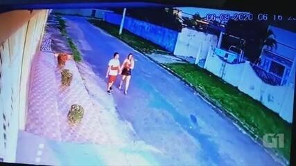 Vídeo mostra motorista de BMW com a namorada após atropelamento