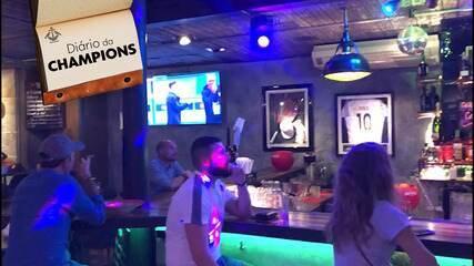 Diário da Champions: Raphael De Angeli mostra movimentação nos bares em dia de jogo