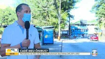 Moradores do Alto da Boa Vista reclamam de linhas de ônibus