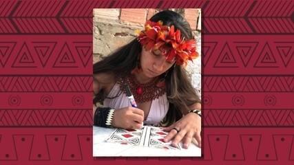 Mulheres indígenas recuperam renda com venda de máscaras estilizadas