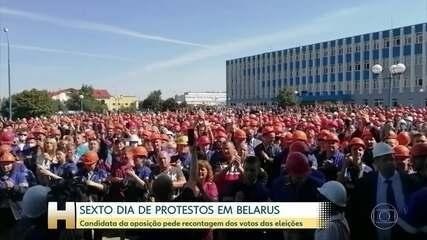 Candidata da oposição em Belarus pede recontagem dos votos
