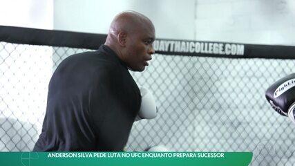 Anderson Silva pede luta no UFC enquanto prepara sucessor