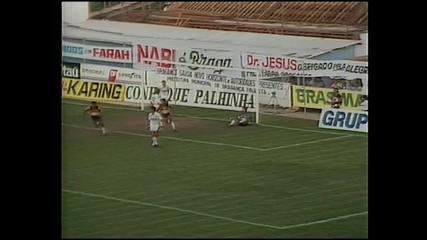 Fernando marca para o Novorizontino na final do Paulista de 1990 contra o Bragantino