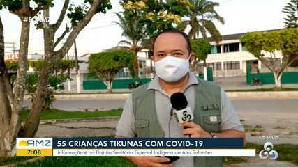 Cerca de 55 crianças Tikunas são infectadas pela Covid-19 no Amazonas