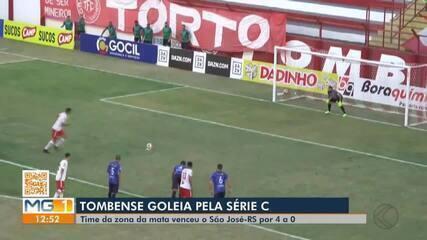 Com três de Rubens, Tombense goleia São José-RS na Série C do Brasileiro