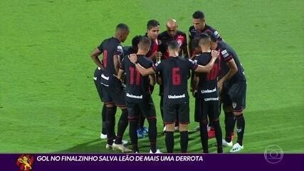 Gol no fim salva o Sport de mais uma derrota na Série A