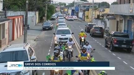 Em greve, funcionário dos Correios fazem carreata em Rio Branco