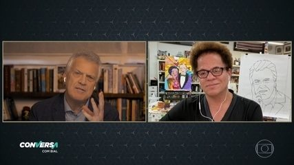 Romero Britto elogia arte de George W. Bush e sugere parceria entre os dois