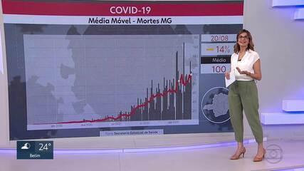 Média móvel revela estabilidade nas mortes por Covid, em Minas Gerais