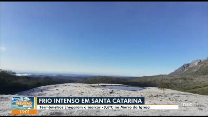 Neve é registrada em cidades da Grande Florianópolis