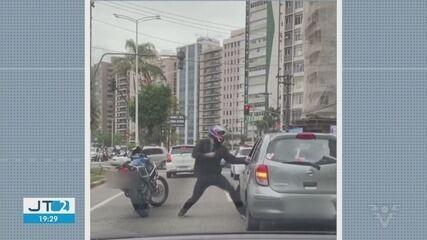 Motorista agredido com socos em São Vicente fala sobre incidente