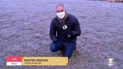 Mato Grosso do Sul tem geada neste inverno
