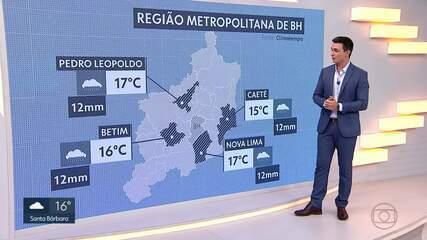 Massa de ar polar derruba temperaturas em Minas Gerais e na Grande BH