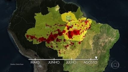 Satélites da Nasa mostram que maioria das queimadas na Amazônia tem origem no desmatamento