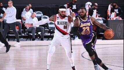 Melhores momentos de Los Angeles Lakers 116 x 108 Portland Trail Blazers pela NBA