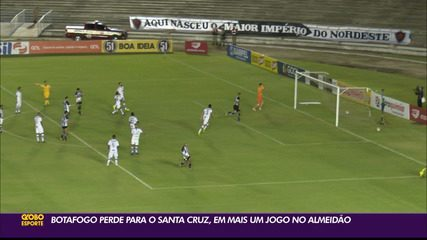 Botafogo-PB é derrotado pelo Santa Cruz, no Almeidão