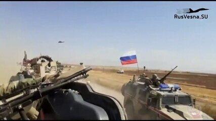 Veículos militares russo e americano batem na Síria