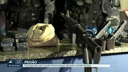 Polícia prende 16 bandidos e apreende 9 fuzis, 10 pistolas e 42 granadas após invasão