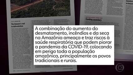 Carta de cientistas mostra como incêndios na Amazônia colocam em risco a saúde