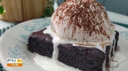 Opção de sobremesa, Brownie pode ser servido com sorvete