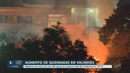 Valinhos registra alta em número de queimadas e quantidade supera total de 2019