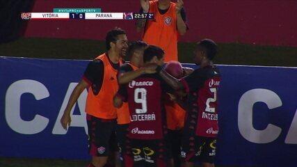 O gol de Vitória 1 x 0 Paraná pela 6ª rodada da Série B 2020
