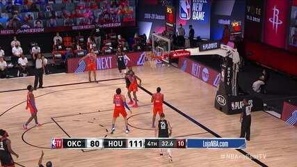 Melhores momentos de Houston Rockets 114 x 80 Oklahoma City Thunder pela NBA
