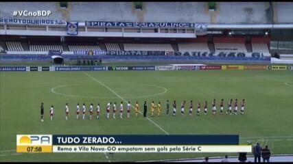 Remo empata sem gols com o Vila Nova. Confira os melhores momentos: