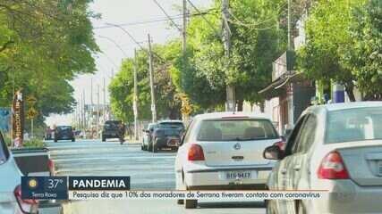 Pesquisa diz que 10% dos moradores de Serrana tiveram contato com a Covid-19