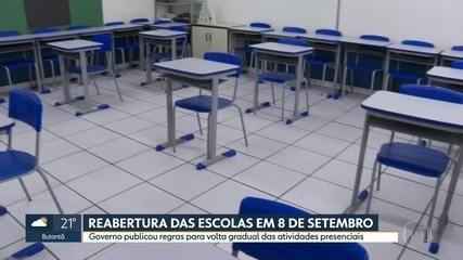 Escolas estaduais podem reabrir terça (8),mas só para atividades complementares
