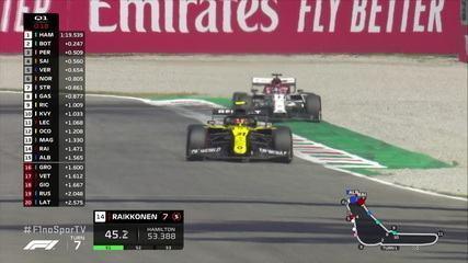 Veja o último minuto do Q1 do treino do GP da Itália
