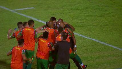 Veja o gol de Sampaio Corrêa 1 x 0 América-MG, pela Série B do Campeonato Brasileiro
