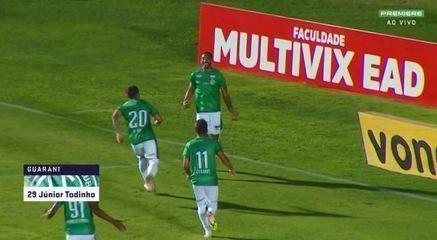 Os gols de Operário-PR 1 x 2 Guarani, pela 8ª rodada da Série B