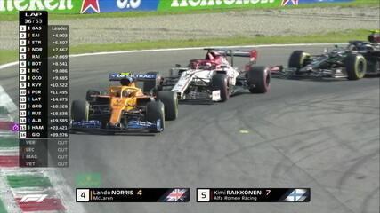 GP da Itália: Norris ultrapassa Raikkonen