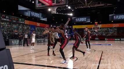 Melhores momentos: Miami Heat 115 x 118 Milwaukee Bucks pelos playoffs da NBA