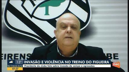 Polícia abre inquérito para identificar grupo invadiu o treino do Figueirense
