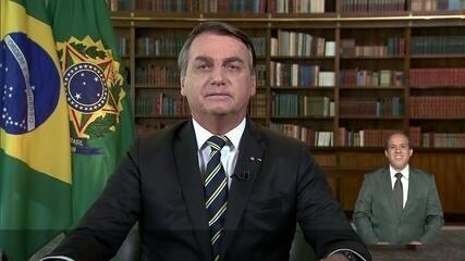 Jair Bolsonaro faz pronunciamento em rede nacional sobre Dia da Independência