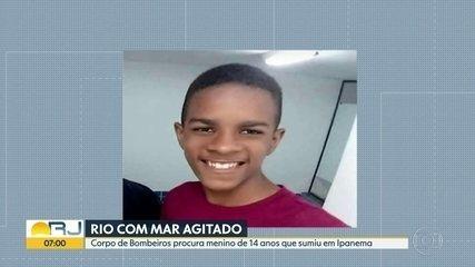 Bombeiros recomeçam buscas por adolescente de 14 anos que desapareceu no  mar em Ipanema | Rio de Janeiro | G1