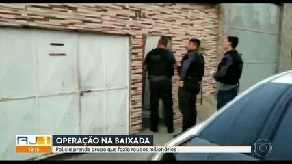 Polícia faz operação contra grupo que fazia roubos milionários