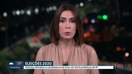 Patriota oficializa candidatura de Artur do Val para prefeitura da capital