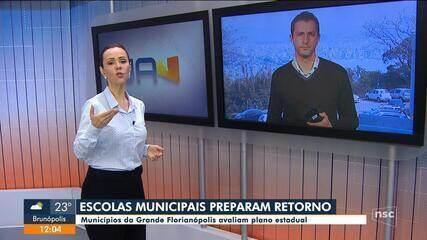 Municípios da Grande Florianópolis avaliam plano estadual para volta às aulas