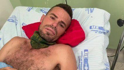 Homem que ficou horas preso sob rochas agradece por ter sido resgatado pelos bombeiros